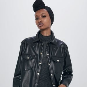 Zara Faux Leather Shirt